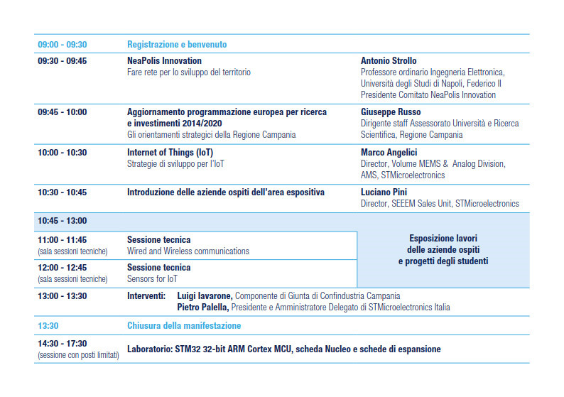 Agenda Technology Day 2014